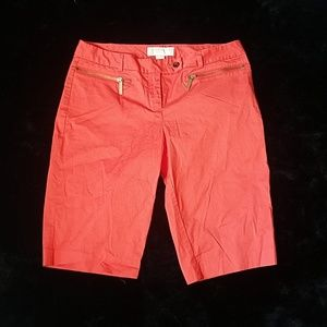 Michael Kors coral colored Bermuda shorts